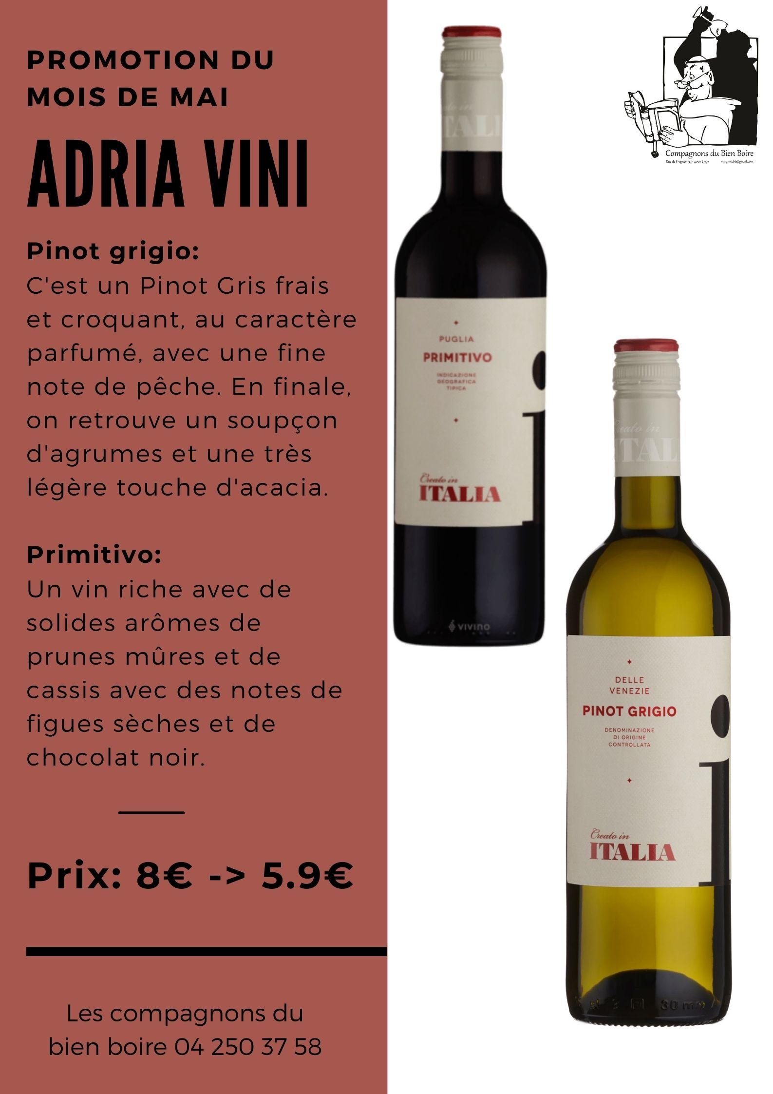 Vin de Mai/Juin 2021 : Adria Vini